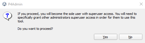 Confirm SuperUser