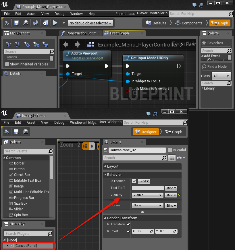 UE4 4 5 UMG Workaround: UI loses focus when clicking on no